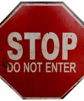Stopbord stop do not enter