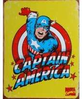 Superheld wandplaat captain america 32 x 41 cm