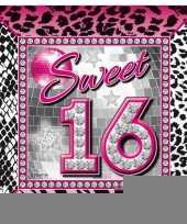 Sweet 16 servetten wegwerpservies