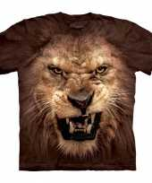 T shirt met realistische leeuw