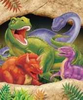 Tafelkleed met dinosaurus plaatjes