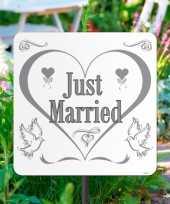 Tuinbordjes just married