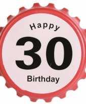 Verjaardag bieropener 30 jaar