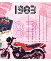 Verjaardagskaart met geboorte jaar 1983