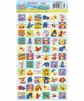 Vierkante stickers winnie de pooh