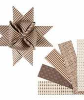 Vlechtstroken van papier bruin beige 40 stuks