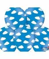 Vliegtuig thema ballonnen met wolkjes