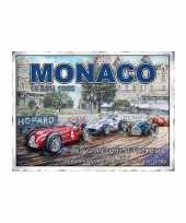 Wandplaat formule 1 grand prix monaco