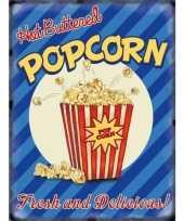 Wandplaat popcorn