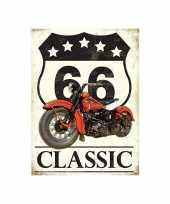 Wandplaat route 66 classic