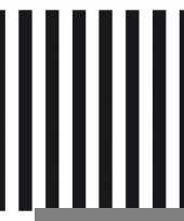 Wegwerpservetten strepen zwart wit 3 laags 20 stuks