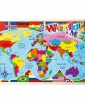 Wereld kaart puzzel 30 x 45 cm