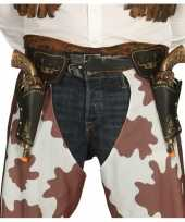 Wilde westen cowboy holsters inclusief revolvers