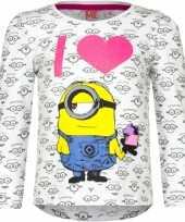 Wit minion kinder shirt