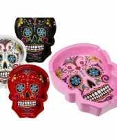 Witte asbakken mexicaanse skull