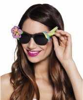 Zwarte hawaii zonnebril