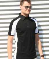 Zwarte polo shirts voor heren lemon soda